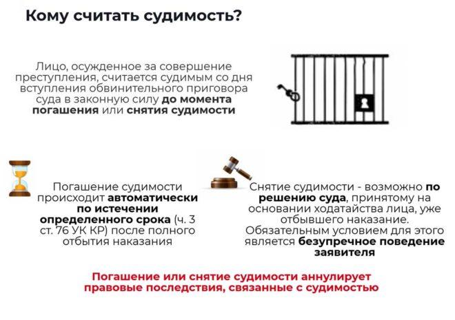 Ограничение свободы погашение судимости